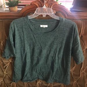 Madewell large cropped tee